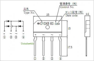 D10XB60 pinout,Pin out