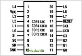 COP313C pinout,Pin out