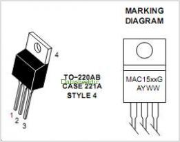 MAC15A4 pinout,Pin out