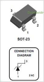 BZX84C10 pinout,Pin out