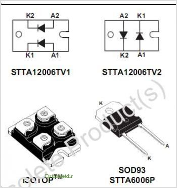 STTA6006P pinout,Pin out