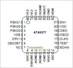 ATA5277 pinout,Pin out