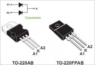 STTH802CT pinout,Pin out