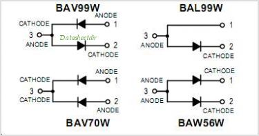BAV99W pinout,Pin out