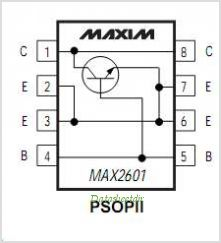 MAX2601 pinout,Pin out
