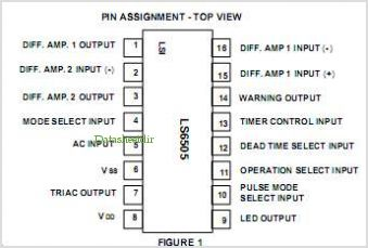 LS6505 pinout,Pin out