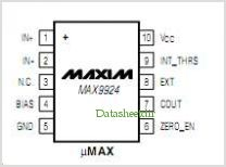 MAX9924 pinout,Pin out