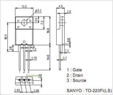 2SK2632LS pinout,Pin out