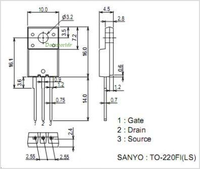 2SK4063LS pinout,Pin out