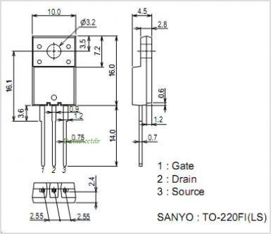 2SK4074LS pinout,Pin out