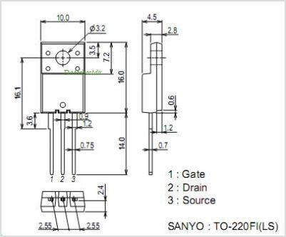 2SK4089LS pinout,Pin out
