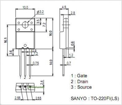 2SK4096LS pinout,Pin out