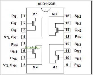ALD1123E pinout,Pin out