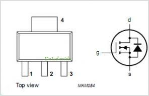 BSP107 pinout,Pin out