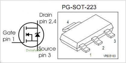 BSP297 pinout,Pin out
