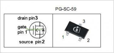 BSR202N pinout,Pin out