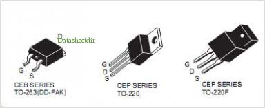CEF540N pinout,Pin out