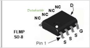 FDS6064N3 pinout,Pin out
