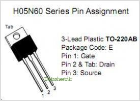 H05N60F pinout,Pin out