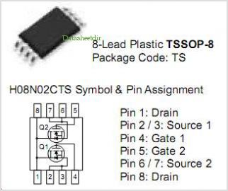 H08N02CTS pinout,Pin out