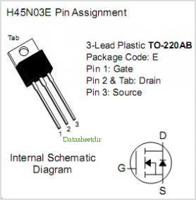 H45N03E pinout,Pin out