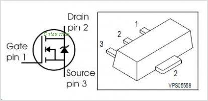 BSS87 pinout,Pin out