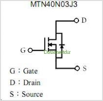 MTN40N03J3 pinout,Pin out