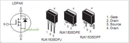 RJK1535DPE pinout,Pin out