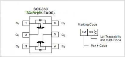 SQ1912EEH pinout,Pin out