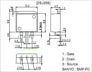 2SJ258 pinout,Pin out