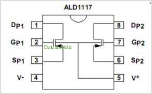 ALD1107 pinout,Pin out