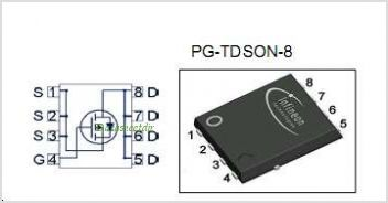 BSC200P03LSG pinout,Pin out