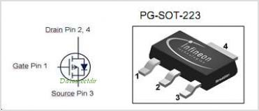 BSP170P pinout,Pin out