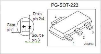 BSP92P pinout,Pin out