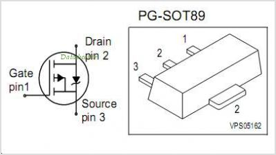 BSS192P pinout,Pin out