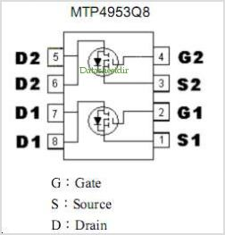 MTP4953Q8 pinout,Pin out