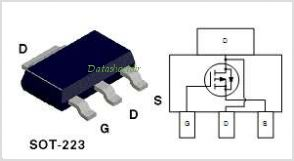 NDT454P pinout,Pin out