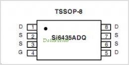 SI6435ADQ pinout,Pin out