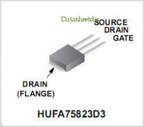 HUFA75823D3 pinout,Pin out