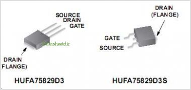 HUFA75829D3 pinout,Pin out