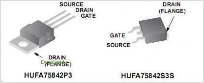 HUFA75842P3 pinout,Pin out