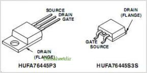 HUFA76445S3S pinout,Pin out