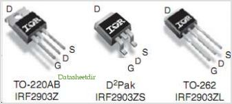 IRF2903ZL pinout,Pin out