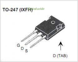 IXFA16N50P pinout,Pin out