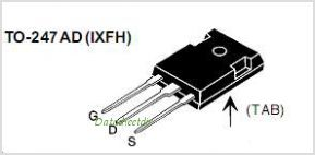 IXFH12N100F pinout,Pin out