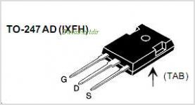 IXFH6N100F pinout,Pin out
