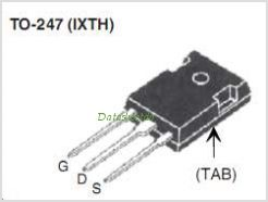 IXTH200N075T pinout,Pin out