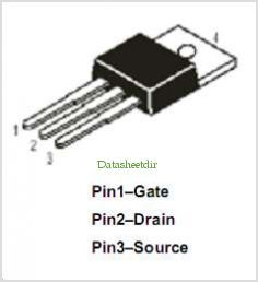 IRF540 pinout,Pin out
