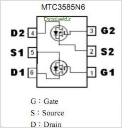 MTC3585N6 pinout,Pin out