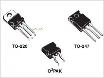 STB12NK80Z pinout,Pin out